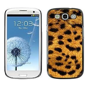 Be Good Phone Accessory // Dura Cáscara cubierta Protectora Caso Carcasa Funda de Protección para Samsung Galaxy S3 I9300 // Texture Big Cat Leopard Pattern