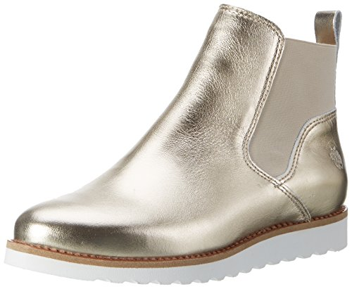 Mela Di Eden Damen Jenny Chelsea Boots Silber (champagne)