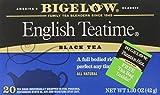 Bigelow English Teatime Tea 20 Bags (Pack of 6), Full Caffeine Premium Black Tea, Bold and Antioxidant-Rich Full Caffeine Black Tea in Foil-Wrapped Bags
