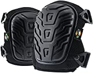 SCRUBIT Knee Pads for Work - Universal Fit for Men and Women - Professional Poly-Shield Knee Pads With Gel-Pad