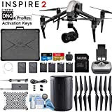DJI INSPIRE 2 Quadcopter Drone with Zenmuse X5S 3-Axis Gimbal/Camera - CinemaDNG & Apple Pro Res License Keys - Starters Bundle