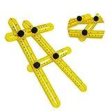 Angle-izer Template Tool, Multi-Angle Measuring Ruler, General Angleizer Template Ruler for Handymen Builders Craftsmen
