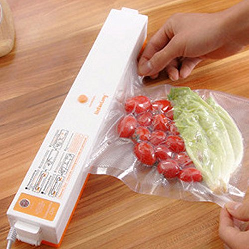 Household Food Vacuum Sealer Packaging Machine Automatic Electric Film Packer Including 15pcs Bags Foodsaver (Film Canister Case)
