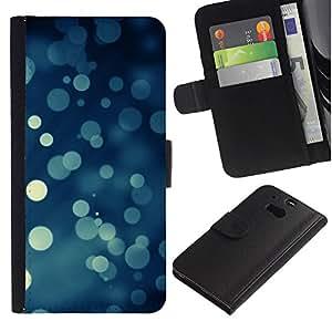 Ihec-Tech / Flip PU Cuero Cover Case para HTC One M8 - Bokeh Snowflakes Snowing Christmas