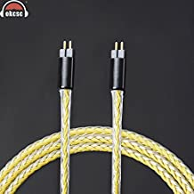 OKCSC 0.78mm 2 Pin Replacement Earphone Cable Upgrad Tinned Copper Wire Dedicated Handmade Weave Cord Use For UE18 JH13 16 UM3X With 3.5mm Straight Plug