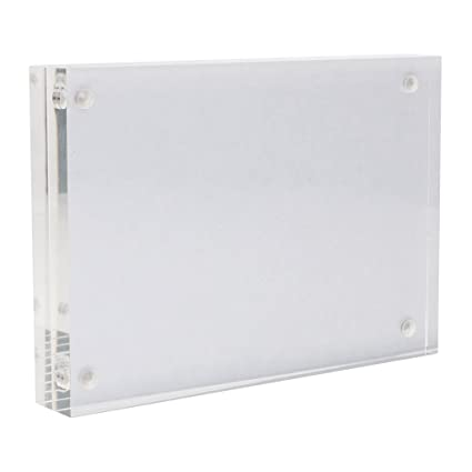 Buy MagiDeal Clear Acrylic Magnet Photo Frame Stand Baby Wedding ...
