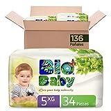 Pañales Bio Baby Talla 5 Extra Grande Unisex, 136 piezas