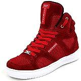 Tenis Sneakers Cano Alto Top Fitness Vermelho