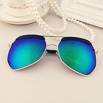LXKMTYJ Moderne Wild Sonnenbrille, runde Persönlichkeit Sonnenbrille Treiber Gläser Bewegung, Schwarz und Silber