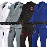 Sanabul Essentials Version 2 Ultra Light BJJ Jiu Jitsu Gi with Preshrunk Fabric (A2, Blue)