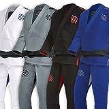 Sanabul Essentials Version 2 Ultra Light BJJ Jiu Jitsu Gi with Preshrunk Fabric (A3, Blue)