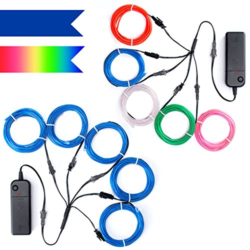 TICOZE EL Wire Neon Lights Kit 2 Pack,