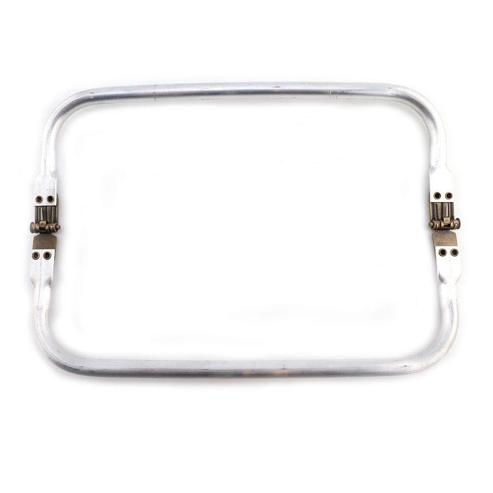RUBY - Boquilla Aluminio para interior monedero neceser o bolso Cierres Boquillas para crear tus bolsos Manualidades (Lote 2 pcs)