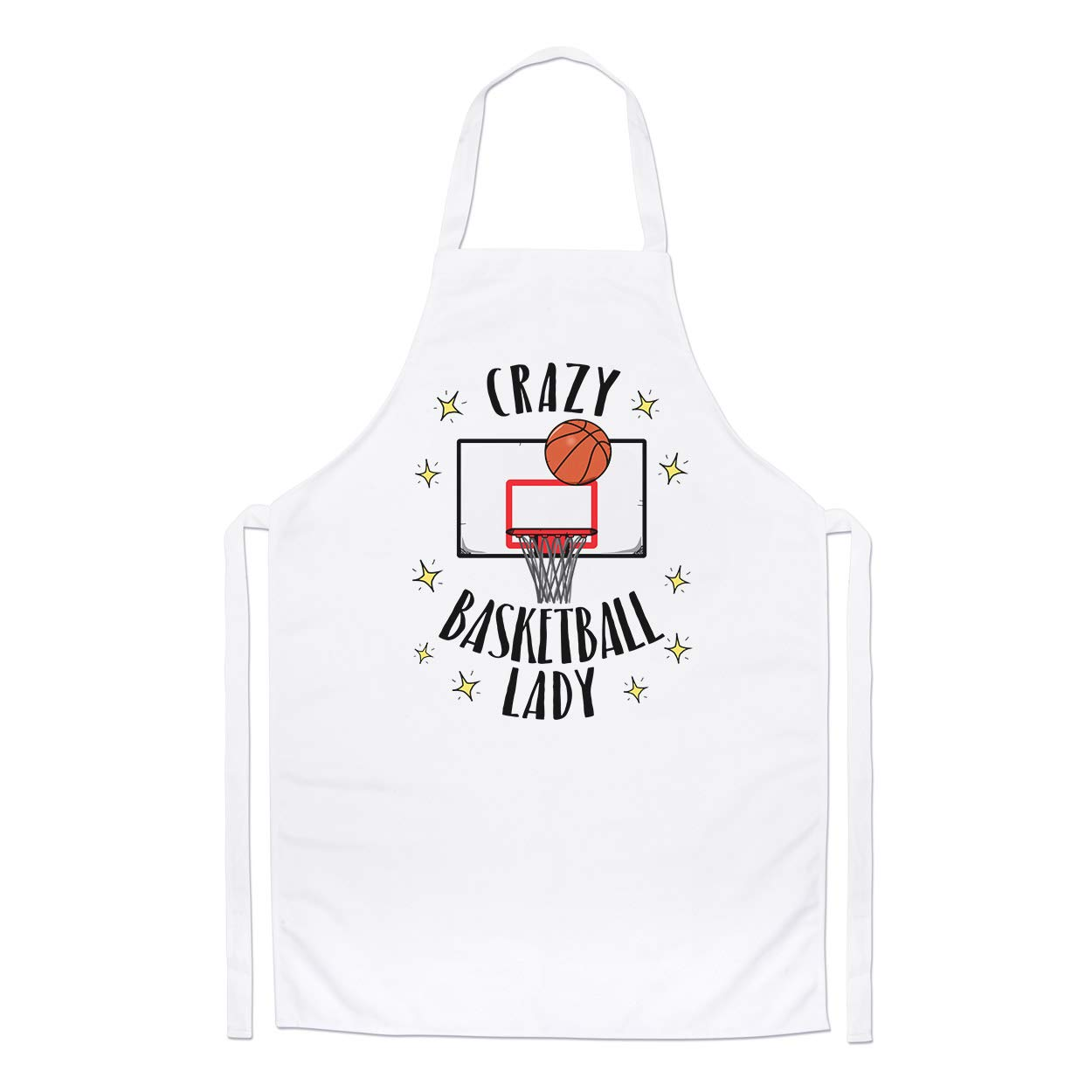 Crazy Basketball Lady Chefs Apron Gift Base