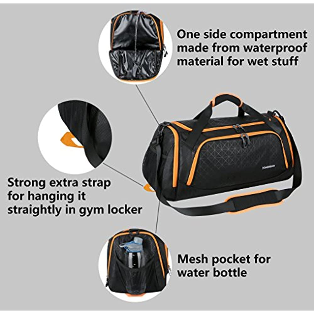 b0d7f37353 Sports Duffel Bag Gym Travel Duffle For Men And Women With Shoes ...