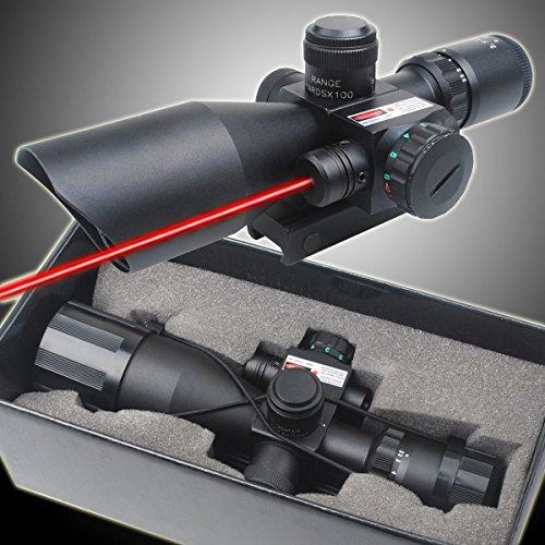 CVLIFE Optics Hunting Rifle Scope 2.5-10x40 Red & Green Illuminated Crosshair Gun Scopes with Free 20mm & 11mm Rail Mount
