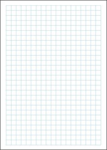 10 x Notizblock blau kariert, Notizzettel DIN A6 je 50 Blatt