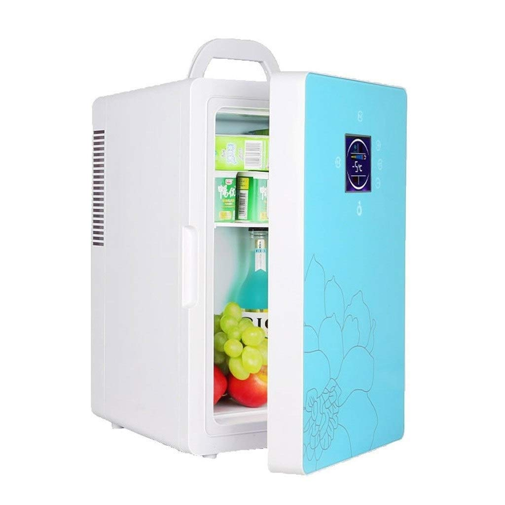 JGWJJ Mini Portable Cooling Box 16L 220v 12V Dual-core Cosmetic Refrigerator Refrigerator for Cosmetic Car Fridge Vertical Cooler Cosmetics Reefer (322642 cm) (Color : Blue) by JGWJJ