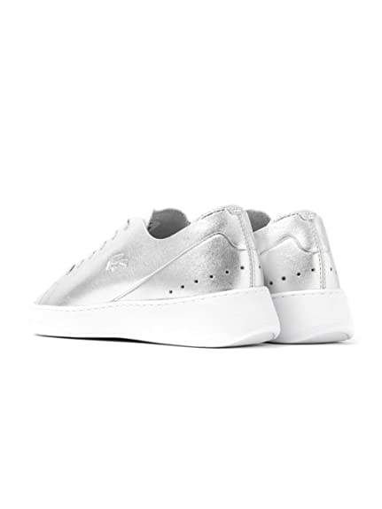 Amazon.com | Lacoste Womens Silver Eyyla 317 1 Sneakers-UK 8 | Fashion Sneakers