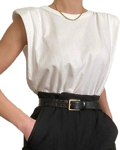 hellomiko T Shirt Mujer Algodón - Camiseta de Tirantes Mujer Estilo Casual Camisetas de Mujer: Amazon.es: Ropa y accesorios