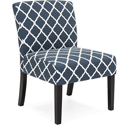 Pattern Upholstered Accent Chair - 4