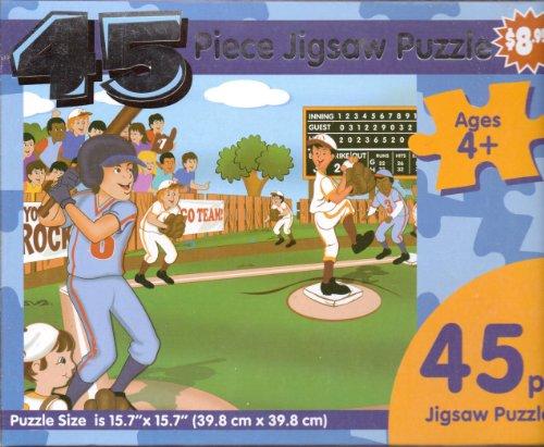 [Little League Baseball Game ~ 45 Piece Jigsaw Puzzle] (Worth Little League Baseball)