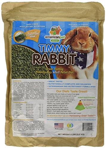 - Timmy Rabbit Pellet, 5-Pound, Blue