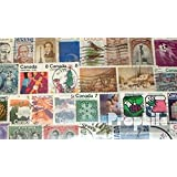 Canada 100 Different Stamps (Stamps for Collectors)