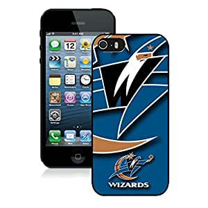 Unique Custom Designed Cover Case For iPhone 5s With Washington Wizards 1 Black Phone Case