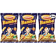 Bamba Peanut Snacks for Babies - All Natural Baby Peanut Puffs 3.5 Ounce Large Bag (Pack of 3 x 3.5oz Bags) - Peanut Butter Puffs made with 50% peanuts