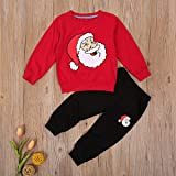 2Pcs Toddler Kids Baby Boy Girl Christmas Outfits