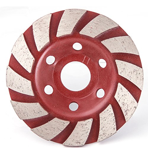 Diamond Grinding Cup Wheel, Ankoow 4-Inch Grinder Disc Bowl Shape Concrete Granite Masonry Stone Tool 12 Segs Polishing Bore Milling Tool