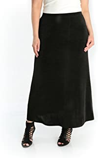 product image for Vikki Vi Women's Plus Size A Line Maxi Skirt