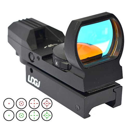 LDGJ Electro DOT Sight Red Reflex Sight with 4 Reticles