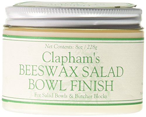 Clapham's Beeswax 870-3008 Salad Bowl Finish, 8-Ounces