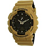 Casio Men's G-Shock GA100L-8A Tan Silicone Quartz Watch