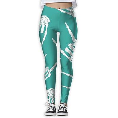 b2ff13990b5a9 Rock-N-Roll-Skeleton-Hand Women Printed Design Leggings Workout Cute Legging  Yoga Pants