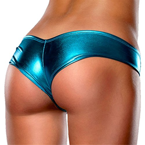 SheSmile Womens Sexy G-Strings Lingerie Exotic Shiny Panty Thongs