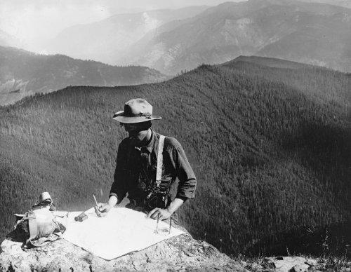 (1920 photo Forest Service: a ranger Vintage Black & White Photograph)