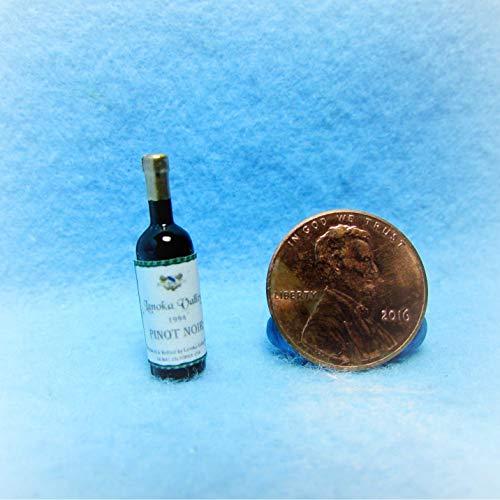 - Dollhouse Replica Bottle Lanoka Valley Pinot Noir Wine KL0981 - Miniature Scene Supplies Your Fairy Garden - Doll House - Outdoor House Decor