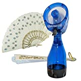 Misting Fan Spritz Portable Cooling-Water Spray Bottle Bundle With Two Oriental Folding Handheld Fans