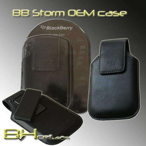 BlackBerry Synthetic Leather Case with Swivel Belt Clip for BlackBerry Storm 9500, ()