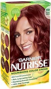 Garnier Nutrisse Hair Color #69 Intense Auburn (Pack of 3)