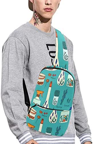 Sling Shoulder Bag Fashion Spray Bottle Hand-painted Color Crossbody Bag Daily Sports Climbing Or Multi-purpose Backpack Men And Women Ladies And Teens