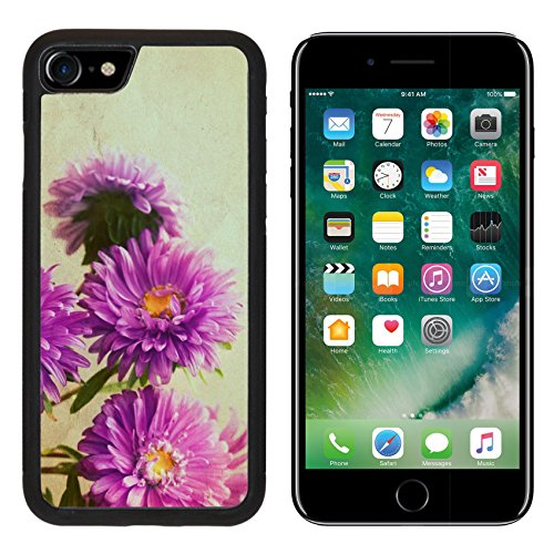 - MSD Premium Apple iPhone 7 Aluminum Backplate Bumper Snap Case iPhone7 IMAGE ID: 29653917 Aster flowers bouquet in retro style