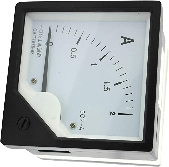 New DC 0-5A 6C2 Direct Current Analog Gauge Panel Meter Class 1.5