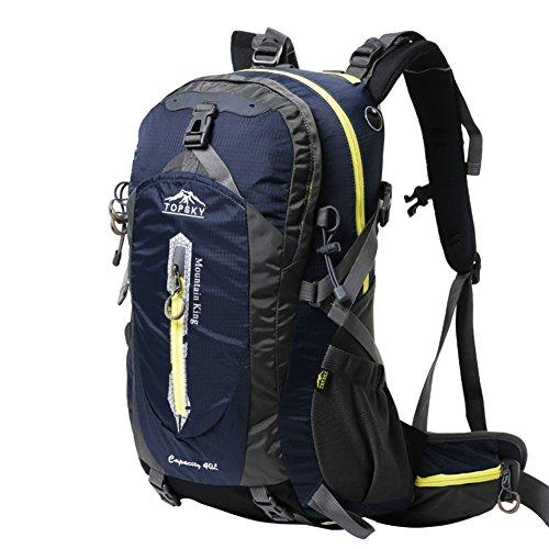 sacchetto di alpinismo/Outdoor trekking zaino/Pacchetti a cavallo impermeabile traspirante/Viaggio zaino trekking-blu navy 50L