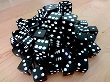 Amazon.com: 100 Black Dice - 16MM by Discount Learning Supplies ...