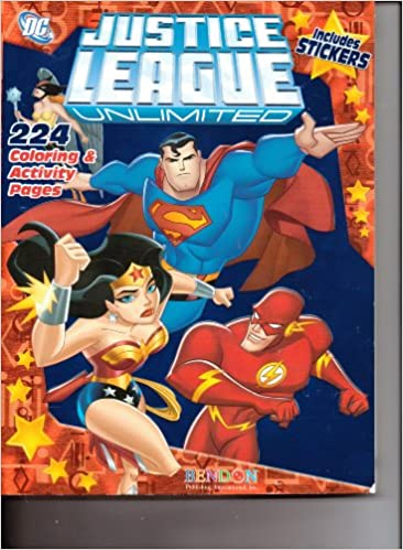 Justice League Unlimited 224 Coloring Activity Pages Includes