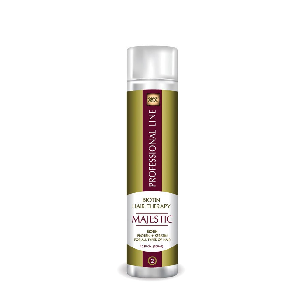 Majestic Biotin Hair Therapy 300ml (10 OZ) - Formaldehyde Free-MADE IN USA by MAJESTIC KERATIN (Image #1)